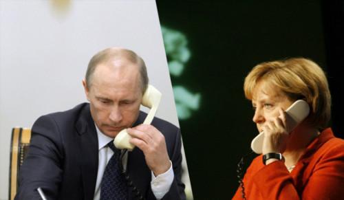 Президент Путин и канцлер Меркель поговорили о безопасности экспертов на месте крушения Boeing 777