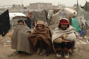 Displaced Afghans Receive Aid Supplies From The UNHCR