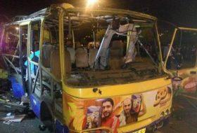 Взрыв автобуса в Ереване 25 апреля