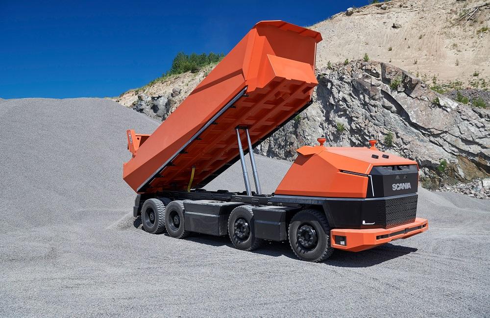 Шведы представили концепт автономного грузовика Scania AXL без кабины для работы на крупных закрытых площадках [видео]
